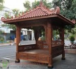 Gazebo Ukir Atap Gentheng SF-GZ03